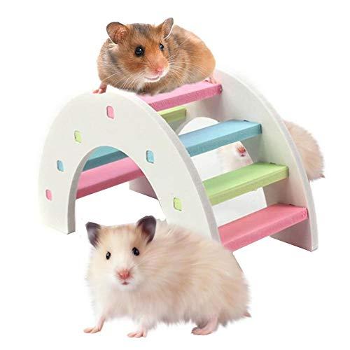 Juguetes para Hamster Jaula de hámster Juguetes de Peluche Juguetes de Conejo Casa de hámster Hámster escondite De Madera de hámster Juguete 9cm