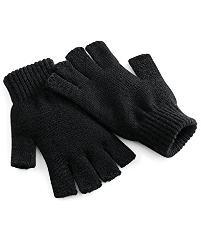 Beechfield Fingerlose Handschuhe. Gr. L-XL, Schwarz
