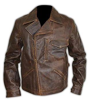 UGFashions Kurt Russell Escape Snake Plissken Brando Motorcycle Antique Brown New York Leather Jacket