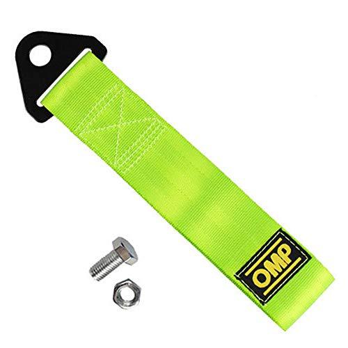 Keptfeet, cinghia per rimorchio, corda per rimorchio di emergenza, gancio di traino per paraurti anteriore e posteriore Green