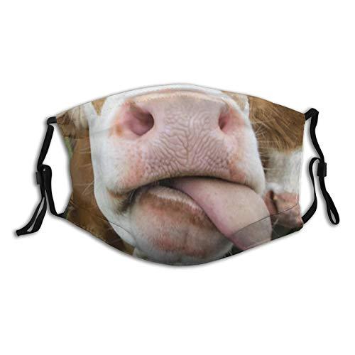 Divertida cara leche ajustable anti polvo boca boca facial reutilizable lavable cara cubierta facial polvo boca bufanda
