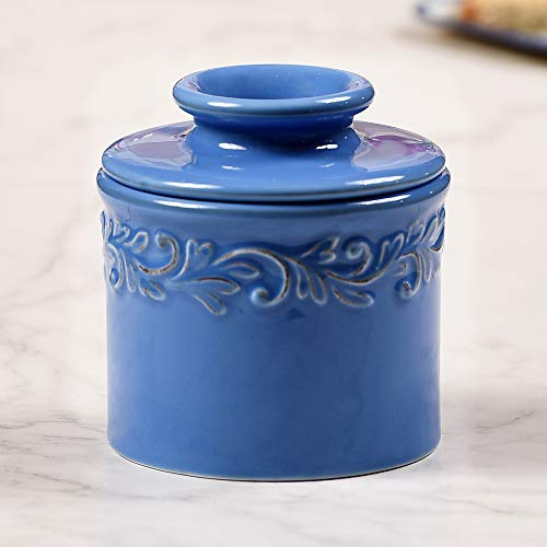 Butter Bell - The Original Butter Bell Crock by L. Tremain, French Ceramic Butter Dish, Antique Collection, Azure Blue
