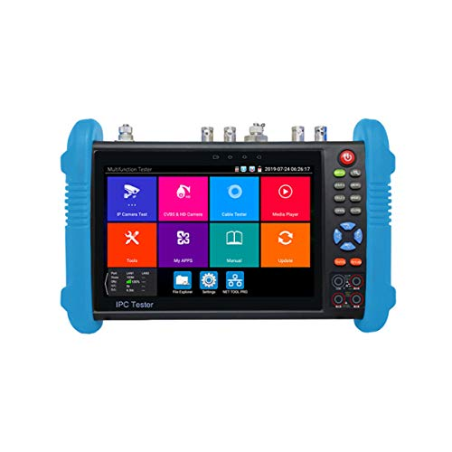 7 Inch Touch Screen 4K H.265/H.264CCTV Tester IP and Analog Test Tool,8MP SDI TVI CVI AHD CCTV Tester Monitor HDMI,Digital Multimeter,TDR Cable TestHDMI Input/Output Test Monitor for Video Signal