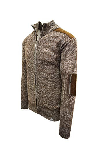 STACY ADAMS Men's Modern Casual Knitted Assorted Soft Sweaters (XXL, Brown2)