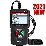 EDIAG YA201 2021 Enhanced obd2 Scanner, Full OBDII Functions 10 Modes Engine Fault Code Reader,Mode 6,O2 Sensor Test, Battery Test, EOBD OBDII CAN Diagnostic Scan Tool for All 1996 & Newer Cars