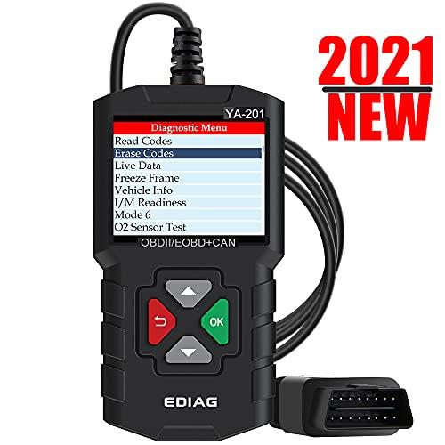 EDIAG YA201 2021 Enhanced obd2 Scanner, Full OBDII Functions 10 Modes Engine Fault Code Reader,Mode...