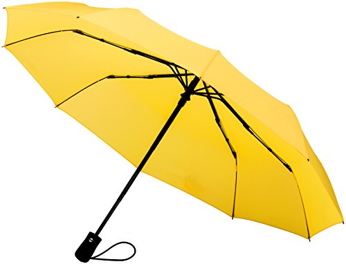 Crown Coast Yellow Travel Umbrella - 60 MPH Windproof Lightweight for...