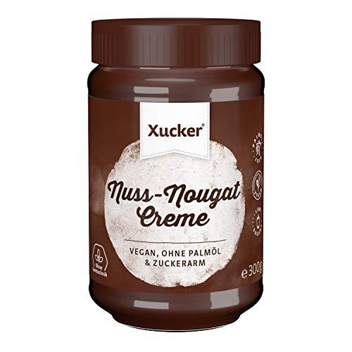 Nuss-Nougat-Creme mit Xylit ohne Palmöl (300 g) | Frühstücken mit Xucker | Ohne Gentechnik | Vegan | zuckerarm | 33 % Haselnüsse