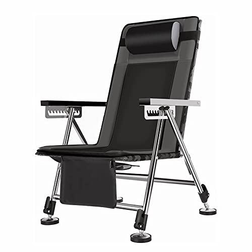 QXWJ Sillas de camping Silla de pesca for al aire libre de la silla de acampada de las sillas de camping con las patas de elevación de la almohada Camping de trabajo pesado Barbacoa Playa de viaje Pic