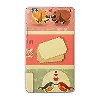igcase dtab compact d-02k docomo dタブ 用 タブレット ケース タブレット カバー TPU ソフトケース 006423 その他 犬 鳥 バレンタイン