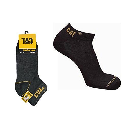 Sommer-Arbeitssocken für Herren CAT 6 Paar kurze Socken bis zum Knöchel, verstärkt an Ferse und Spitze mit verstärkter Spitze CAT CATERPILLAR Gewebe Baumwolle von höchster Qualität (43-46, Grau)