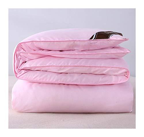 Mulberry Seide Quilts chinesische Seide Betteinsatz Sommer- / Winterdecke for Königin Kingsize-Bett (Color : Pink, Size : 200x230cm 4kg)