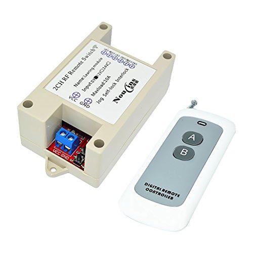 SDENSHI Interruptor de 433M Módulo Autoblocante Jog 5V 2-CH 800m Remoto