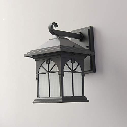 LGOO1 Lámpara de Pared para Exteriores de casa de Campo Victoriana, Minimalista Estadounidense, Impermeable, Exterior, Aplique de Pared, Tradicional, clásico, E27, iluminación de Seguridad, Escalera,