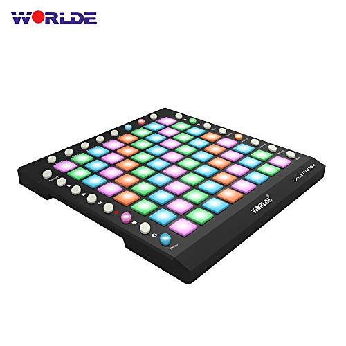 Kalaok ORCA PAD64-A Tragbarer USB-MIDI-Drum-Pad-Controller 64 RGB-Pads mit Hintergrundbeleuchtung 24 Tasten Integriertes 128-MB-Soundmodul mit USB-Kabel