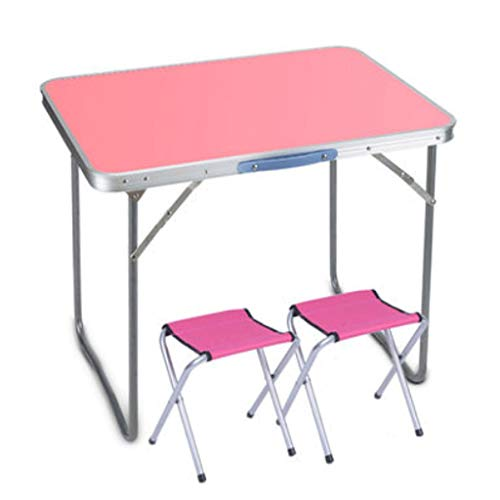 LZL Stable And Durable Folding Table, Lightweight And Portable Camping Table, Indoor and Outdoor,Use Used As Picnic Table, Grill Side Table, BBQ (Color : Pink)