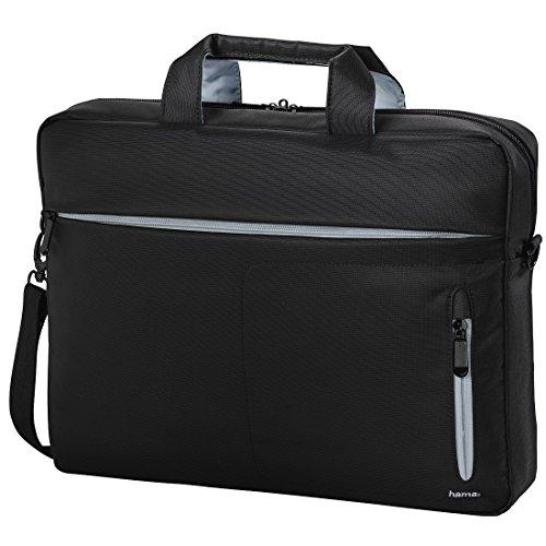 'Hama 101282Marseille Style Tasche für Notebook-17.3, schwarz/grau