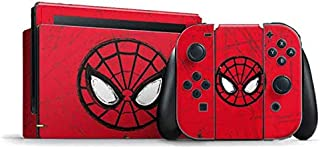Skinit Decal Gaming Skin for Nintendo Switch Bundle - Officially Licensed Marvel/Disney Spider-Man Face Design