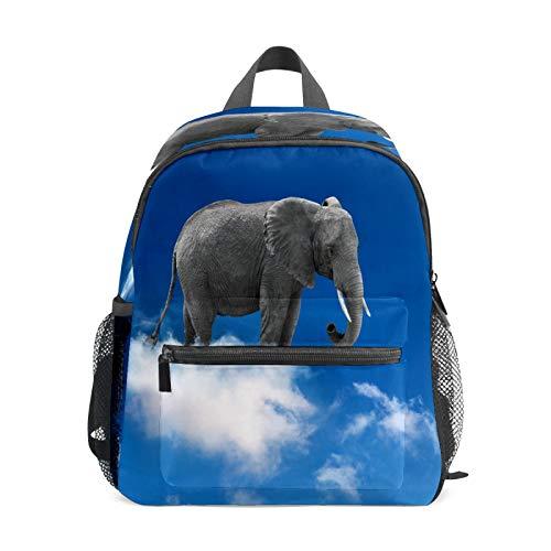 Mochila infantil para niños de 1 a 6 años de edad, mochila perfecta para niños y niñas, elefante en las nubes, cielo azul claro