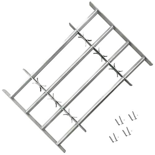 WENXIA Adjustable Security bar for Windows with 4 Bars 1000-1500 mm Scaffoldings