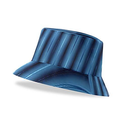 ALALAL Sombrero de Cubo Abstracto 3D líneas Azules licuadora Sombrero de Cubo Protector Unisex Elegante y Ligero Impreso Lindo Sombrero de Cubo Disponible en Todas Las Estaciones