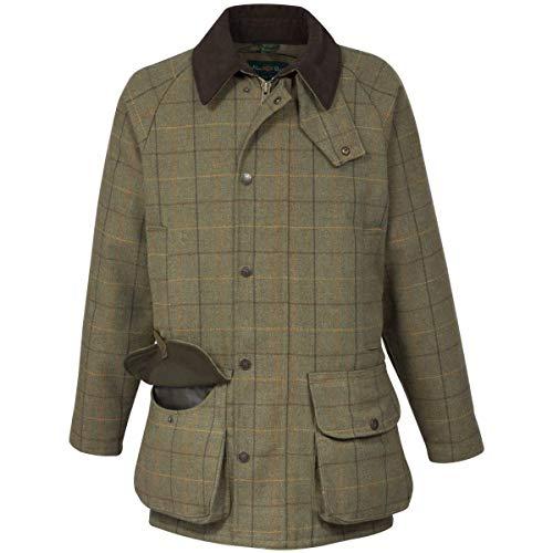 Alan Paine Abrigo de Tiro Impermeable Tweed Rutland para Hombre Moss Oscuro