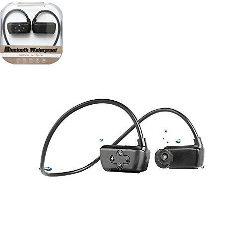 AH&Y Schwimmen MP3-Player Unterwasser wasserdichte drahtlose Kopfhörer-Kopfhörer 16GB Ihre Musik hören Running Training Gym wasserdichte Sport [3M] Während Schwimmen