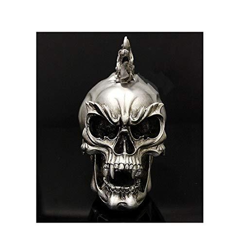 AJLNSL Metal Punk Skull Rock Decorazione Tattoo Bar Locomotiva Skull Projectsscheletro Umano Statue