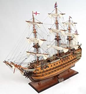 "Victory Tall Ship Wooden Scale Model Sailboat 30"" Fully Assembled Boat"