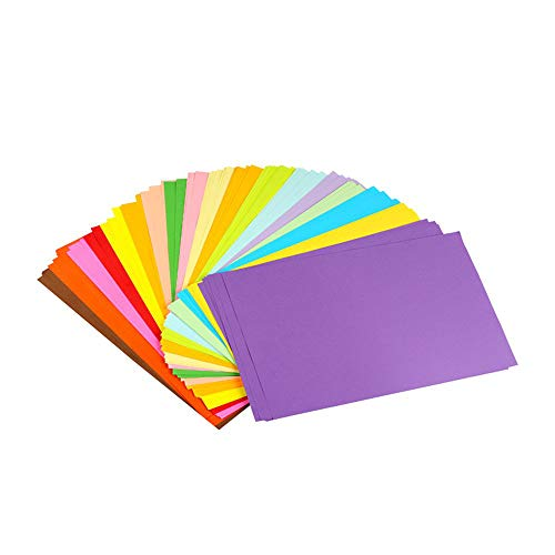 Aierliusa Colored Paper Colored A4 Copy Paper Paper more Fun at Crafting Decorating Cut-to-size Paper 100 Sheets 10 Different Colors for DIY Art Craft (20 30cm)