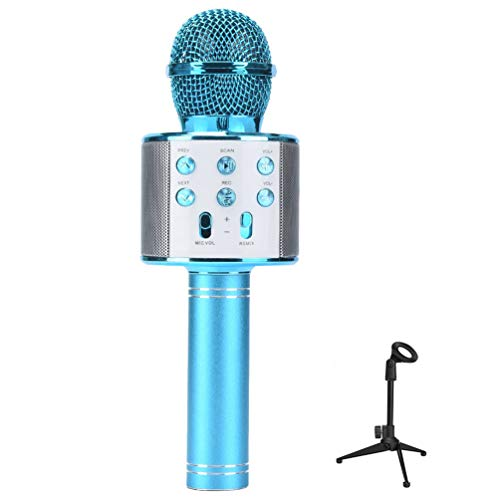 NROCF Micrófono De Karaoke Portátil Bluetooth - Altavoz Inalámbrico Profesional del Hogar...