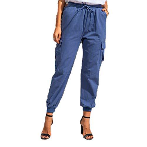 Pantalones con Cordón para Damas De Otoño E Invierno Pantalones Deportivos Sueltos De Color Sólido con Pies Compras Diarias Y Pantalones De Oficina con Pies