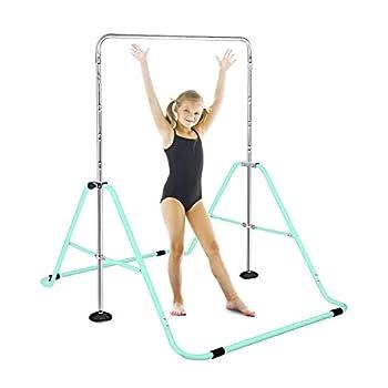 FBSPORT Folding Gymnastic Training Kip Bar Expandable Gymnastics Bars Horizontal Bars Adjustable Height Fitness Equipment for Home/Floor/Practice/Gymnastics/Trainning/Parkour