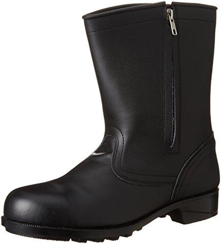 [エンゼル] 普通作業用安全靴 半長チャック付 CH311 6B041 メンズ ブラック JP JP25(25cm)