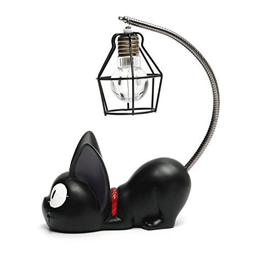 Kreative Harz Kiki Katze Tier Nachtlicht, Ornamente Dekoration Geschenk Kleine Katze Kinderzimmer Lampe Atmen LED Nachtlampe