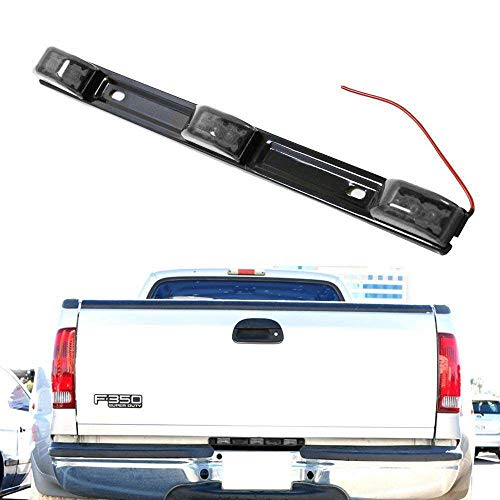 iJDMTOY Smoked Lens 3-Lamp Truck Rear Tailgate or Trailer LED Light Bar Compatible With Ford F-150 F-250 F-350 F-450 Dodge RAM 1500 2500 3500 Chevy Silverado, GMC Sierra, etc