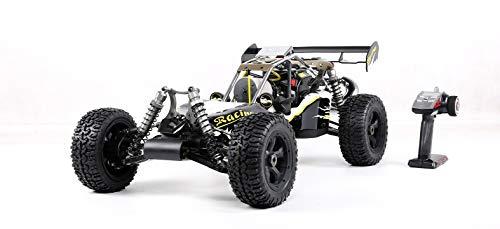 HWJF 4WD RC Buggy Gasolina, 1/5 de Coches de Juguete de Gas Off Road con Motor de 45 CC de Gasolina para Adultos, 2.4G regulador de Radio Incluyó,Titanium