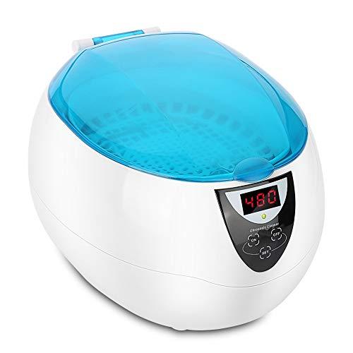 Pulitore ad Ultrasuoni, Lavatrice a ultrasuoni 50W 750ml con timer per la pulizia di orologi, gioielli, occhiali, monete, lenti a contatto e metalli in genere
