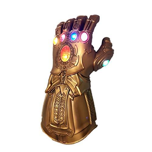 NUWIND Thanos Handschuh Glänzend Machthandschuh mit Magnetischer Infinity Steine Halloween Kostüm Accessoire Cosplay Requisiten Party Deko (für Kinder)
