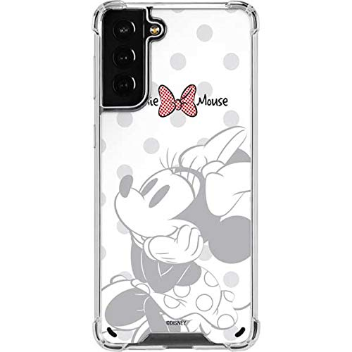 Skinit Clear Phone Case Compatible with Samsung Galaxy S21 Plus 5G - Officially Licensed Disney Minnie Mouse Daydream Design