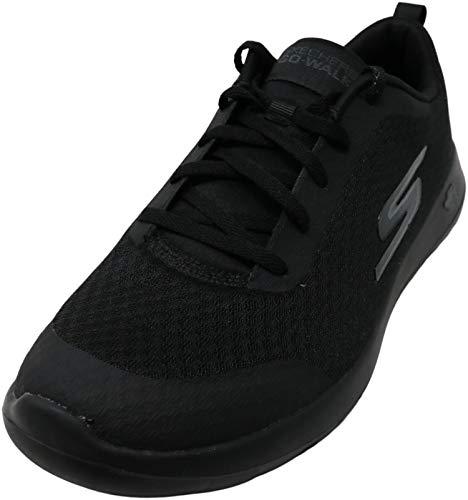 Skechers mens Gowalk Max Otis - Athletic Air Mesh Lace Up Walking Shoe, Black, 9 US