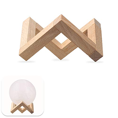 Rantoloys Holzhalterung Mondlampenhalter Abnehmbarer Holzständer für 3D-Druck Mondlampe Kugelförmiges Nachtlicht, kleine Größe