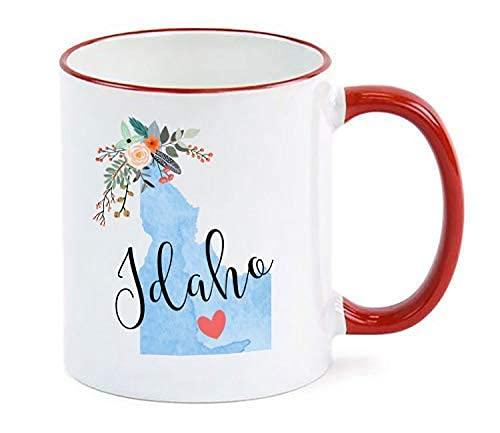 AOOEDM Taza Idaho personalizada Idaho Souvenir Idaho Gift for Her