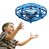 UDIRC Flying Ball Drone for Kids, Hand Operated Mini Drone Toys for Boys or Girls with Fan Mode (Blue)