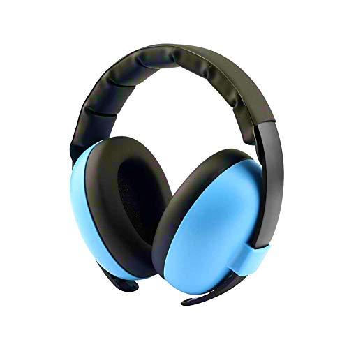 Baby-Ohrenschutz mit Geräuschunterdrückung, Ohrenschützer, verstellbarer Kopfbügel, Gehörschutz für 0-3 Baby/Jahre Säugling/Kleinkinder (blau)