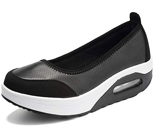 Zapato Deporte Mujer Cuña Plataforma Zapatillas Transpirable