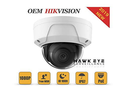 2MP PoE Security IP Camera - Compatible with Hikvision DS-2CD2125FWD-I Dome Indoor and Outdoor Weather Proof EXIR Night Vision, 2.8mm Lens,Best for Home and Business Security English Version