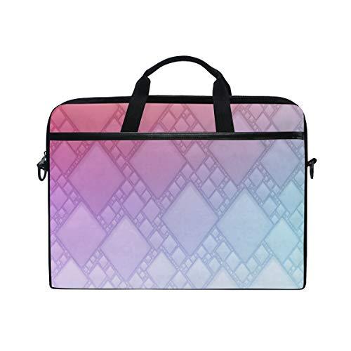 LOSNINA 15-15.4 inch Laptop Tasche,Farbverlauf geometrischen Hintergrundbild,Neue Leinwand Drucken Muster Aktentasche Laptop Schulter Messenger Handtasche Case Sleeve