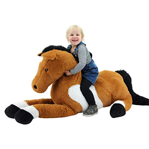 Sweety Toys 10981 XXL Pferd Plüschpferd liegend Brownie 160 cm