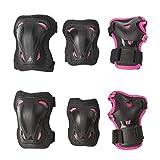 Rollerblade Mädchen Skate Gear JUNIOR 3 Pack Protective, Black/pink, XXXS